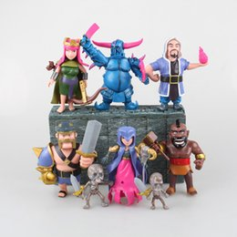 Wholesale Toy Model Figures - 8 pieces   lot PVC action figure Clash games Royale drawing toys phone game model Dolls gifts for friends