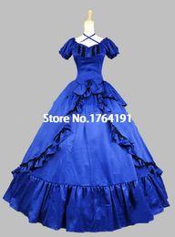 Personalizado 2016 Nova Marca Vermelho / Preto Mangas Curtas Arco Do Século 18 Gótico Vitoriano Vestido Lolita Para As Mulheres de