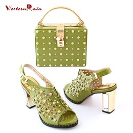 Wholesale Party Set Ups - Zapatos Mujer Tacon Shoes High Heel Dames Schoenen Hot Sale Factory Price Usa Woman Heels Matching Bag Italian Shoe And Sets