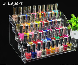Wholesale acrylic nail polish racks - 5 layers Hot sale Promotion Makeup Cosmetic display stand Clear Acrylic Organizer Mac Lipstick Jewelry cigarette Display Holder Nail Polish