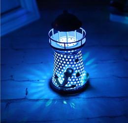 Canada Cadeau créatif phare de fer méditerranéen Ameublement salon décoration lampe électronique bar décoration Offre
