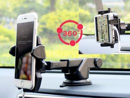 Wholesale One Touch Retail - One Touch Car Mount Long Neck Universal Windshield Dashboard Mobile Phone Holder Strong Suction for Samsung S8 iPhone 7 plus retail package