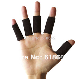Wholesale Volleyball Wrist Support - Wholesale- 10Pcs lot Professional Sports Safety Elastic Stretch Wrist Support Finger Protector Protection Basketball Volleyball L084