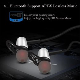 Wholesale Design Headphones - Sweatproof Wireless Sport Bluetooth Earphone 4.1 Magnetic Design Stereo Bass Headphones with Mic Noise Reduction for Iphone 7 S8