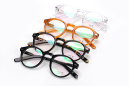 Wholesale Free Prescription Eyeglasses - 2016 New arrived retro vintage brand Moscot miltzen johnny depp prescription glasses optical eyeglasses spectacle frame free shipping