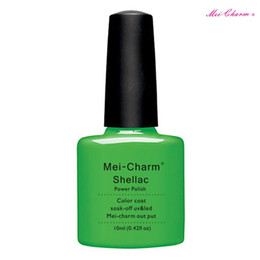 Wholesale Nail Arts Charms - Nail Art Design Manicure Set mei-charm 10Ml Soak Off Gel Polish LED UV Gel Nail Polish Lacquer Varnish Base Top Coat