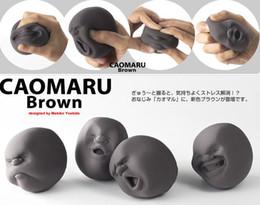 2019 palle di faccia caomaru Chirstmas Sfogo Sfera del viso umano Sfera antistress del design giapponese Cao Maru Caomaru Bianco Regalo divertente del giocattolo di decompressione