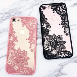 Wholesale Laces Case - Lace Datura Paisley Mandala Henna Flower Case For iphone 7 Case For iphone7 6 6S Plus 5 5S Cover Classic Phone Cases Random Color ZL3212