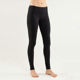 Wholesale Wholesale Thicken Leggings - Wholesale Thicken Material Wunder Under Pant Women Lulu Yoga Pants Leggings Sport Gym Outfits Solid Elastic Fitness Running With Logo Tag