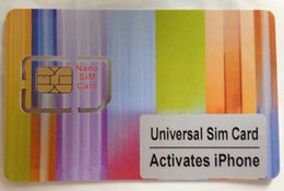 Wholesale Iphone 5c Sim Card - Customized Activating SIM Card for iPhone 3GS 4 4S 5 5s 5c 6 6Plus 6S 7 instead of original iPhone activation sim card