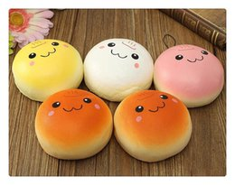 Wholesale Bun Chain - Hot sales 10cm Cute Kawaii Squishy Buns Bread Phone Squishy Donut Pendant Mobile Phone Strap Charms Marshmallow Key Chain eric