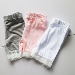 Wholesale Kids White Lace Tights - wholesale girl lace tight shorts bulk sale plain leggings baby girl lace skinny leggings tights boutique lace shorts for summer kids
