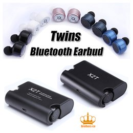 Wholesale Case Charges Iphone - X2T Mini Invisible Twins True Wireless Bluetooth Headset earbuds CSR 4.2 Bluetooth Earphones with Magnetic Charging Case Bluetooth Headphone