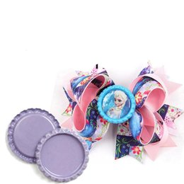 Wholesale Bottle Caps For Crafts - 10pcs lot Perfect Flattened Bottle Caps Flat Bottlecaps For Diy Hairbow Pendant Craft Jewerly Accessories