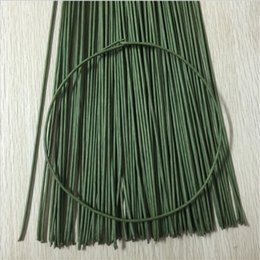 Wholesale Wire Garland Decorations - 50pcs Iron Wire Garland Branches Fitting DIY Wreath Supplies Artificial Flower For Wedding Home Decoration Mariage Flores Plant