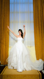 Wholesale Corset Style Dresses Cheap - 2017 Bohemian Hippie Style Satin 1y Tulle Applique Sequin elegant simple corset wedding dresses Sreapless Cheap Beach Country Bridal Gowns