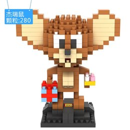 Wholesale Tom Jerry Figures Toy - Puzzle Building Blocks Small Particles Plastic Toy Cute DIY Tom And Jerry Popeye Conan Figures Toys Relieve Work Stress 10 5sj I1
