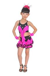 Wholesale Ballet Dance Competition - New Competition Kid Children Latin Dance Dress For Girls Ballet Dress Practice Latin Dancing Dress Gymnastics Girl Dancewear