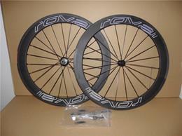 Rodas de carbono branco on-line-UD Branco oco logotipo Roval 60mm rodas de bicicleta de estrada de carbono com 23mm de largura Novatec A271 hubs frete grátis