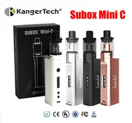 Wholesale E Refills - Kanger Subox Mini C Starter Kits with Protank 5 Atomizer 3ml Top Refilling SSOCC 0.5ohm coils and KBOX 50w vape mod E-cigarette