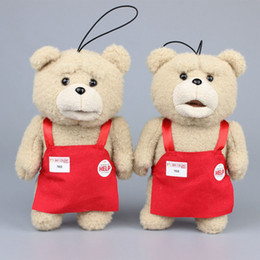 "Wholesale Red Stuffed Teddy Bear - Wholesale- 8"" 20CM Teddy Bear Ted Plush With Red Cloth Kids Ted Plush Toy Stuffed Animals Kids Gift"