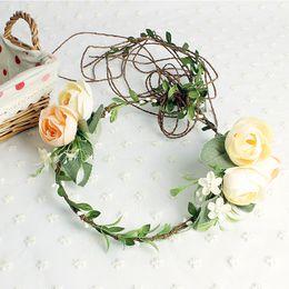 Wholesale Wholesale Dress Plant - artificial garland wedding accessories brides garlands bridal hair accessories bridal headbands wedding headdress for bride dress
