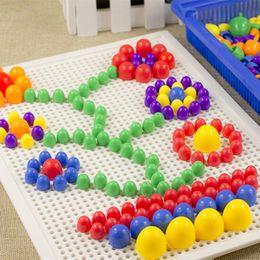 Wholesale Picture Puzzles - Hot Sale DIY Mosaic Mushroom Nail Kit Puzzle Toys Plastic Composite Picture Puzzle Children Early Educational Toys VE0222