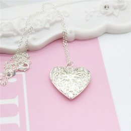 Wholesale Tin Cans For Gifts - Fashion Exquisite 925 Silver Heart Pendant Necklaces Can Be Opened For Girlfriend Gift Collarbone Chain Necklace