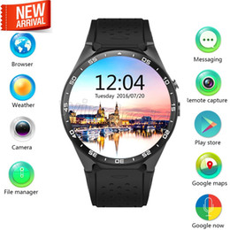 Wholesale Iphone Rating - KW88 smart watch Android 5.1 OS MTK6580 CPU 1.39 inch Screen 2.0MP camera 3G WIFI GPS Heart Rate smartwatch for iphone Android smart phone