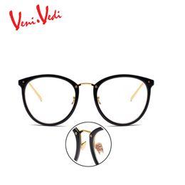 Wholesale Eyewear Glasses Nose - Wholesale- 2017 fashion women glasses eyewear VENI.VEDI Brand Metal nose pads women's optical glasses frame high quality vintage eyeglasses