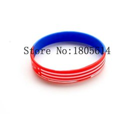 Wholesale Silicon Flag - Heat! The new flag of the United States flag sports wristbands 100% silicon Gym Fitness bracelet can be free wholesale 50pcs delivery