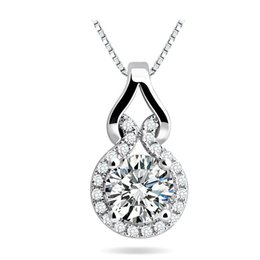 Wholesale Gourd Necklace Pendant - Wholesale-100% 925 sterling silver necklaces pendants lovely gourd silver necklace for women top quality!! Christmas Gift FREE SHIPPING