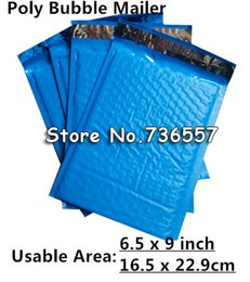 Wholesale New Style Side Bags - Wholesale-New Style [PB#69+]- Blue 6.5X9inch   165X229MM Usable space Poly bubble Mailer envelopes padded Mailing Bag Self Sealing [50pcs]