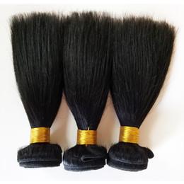 2020 vierge chinoise cheveux raides Cheveux vierges brésiliens tout droit Bundles de cheveux tissent 3pc / lot 8-18 pouces de couleur naturelle droite extension de trame de cheveux de remy indien chinois vierge chinoise cheveux raides pas cher