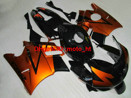 Wholesale 1994 Honda Fairing Body Kit - Aftermarket body parts fairing kit for Honda CBR600 F2 91 92 93 94 burnt orange black motorcycle fairings set CBR600 F2 1991-1994 PQ65