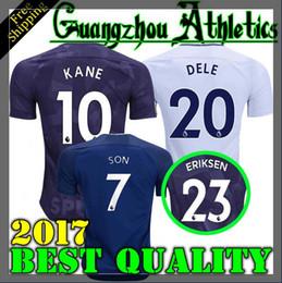Wholesale Xl Tops - Thai quality 17 18 Top KANE Jerseys Home away third white Soccer Jersey 2017 2018 LAMELA ERIKSEN DELE SON Away blue Football shirt