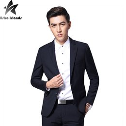 Wholesale Men Office Pants - Wholesale- 2017 Brand Mens Suits Mens Business Office Clothes Jacket+Pants 2 Piece Mens Casual Suits Occupation Blazer Slim Original MT290
