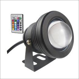 Cambio de color bajo el agua luces led online-LED de color de luz subacuático RGB cambiante de 10W LED de luz de fuente DC AC 12V con carcasa de aluminio IP68 1 control remoto IR