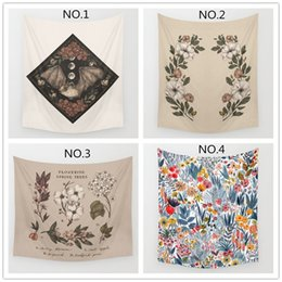 Wholesale Painting Mat - Abstract Tapestry animal Painting Home Decorative Polyester wreath Pattern Beach Towel Yoga Mat Fashion Sofa Wall Decor