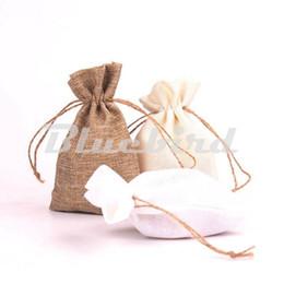 Wholesale Burlap Sacks - Wholesale-9.5*14.5CM Wedding Party Burlap Jute Sacks Vintage Weddings Parties Favor With Drawstrings Gift Bags Packaging Bag