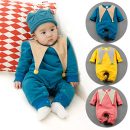Wholesale Baby Boy Coverall Rompers - Novelty Baby Clothes long sleeve autumn winter rompers boys girls solid coverall baby wear clothes Halloween Christmas wholesale