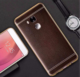 Wholesale V8 Cover - New Arrive P8 P9 Lite Luxury Litchi Grain Painting Soft TPU Back Cover Case For Huawei Ascend Honor 6 7 8 V8 5C P8 P8 Lite Mate 7 8 9 9 pro