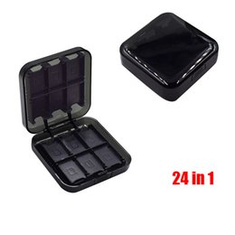 Wholesale Game Card Cartridge Case - 24 in 1 Travel ABS Storage Box Momery Card Holder Protector Cartridge Case For Nintendo Nintend Switch NS Game Accessories