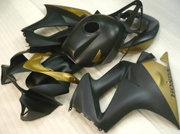 Wholesale Tank Covers For Motorcycles - New ABS motorcycle Fairings kits set For HONDA VFR800RR VFR800 800RR 2002-2012 02 03 04 05 06 07 08 09 10 11 12 matte black gold+Tank cover