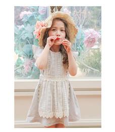 Wholesale Gray Flutter Sleeve - Baby Girls Lace tutu Dresses Kids Girls Princess ruffles Dress Babies Flutter Sleeve Party Dress 2017 Childrens Summer clothing