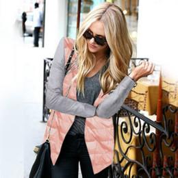 Wholesale Cool Winter Jackets Women - Women Winter Cool Basic Cotton Parkas Jacket Zipper Coat jacket Patch Irregular Outwear