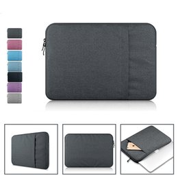Wholesale 11 Inch Tablet Sleeve - Nylon Laptop Bag Sleeve Pouch for Macbook Air 11 13 Pro 13 15 Retina 13 15 Unisex Liner Sleeve Notebook Case