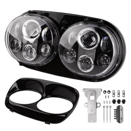 "Wholesale Road Glide Led - 90W 7"" Inch Dual Headlight for Harley Davidson Road Glide 2004-2013 Daymaker LED Motorcycle Headlamp Projector Driving Light"
