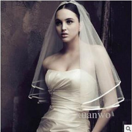 Wholesale Used Edge - without comb hair accessories wedding the bride veil use in PhotoShop and wedding wholesale wedding dress bridal veils
