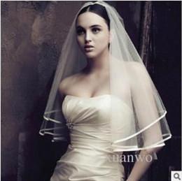 Wholesale Muslim Wedding Veil Dress - without comb hair accessories wedding the bride veil use in PhotoShop and wedding wholesale wedding dress bridal veils